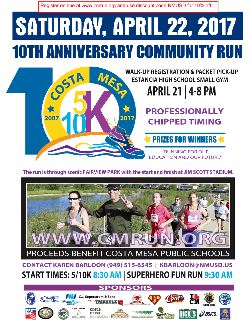 2017 Costa Mesa Community Run Flyer