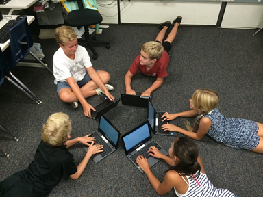 Students using Chromebooks